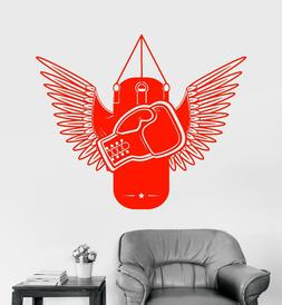 Vinyl Wall Decal Boxing Gloves Gym Fighter Punching Heavy Ba