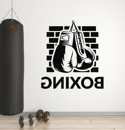 Vinyl Wall Decal Boxing Gloves Gym Sports Fighting Martial A