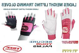 WEIGHT LIFTING bodybuilding GYM Fitness LEATHER GLOVES SLIM