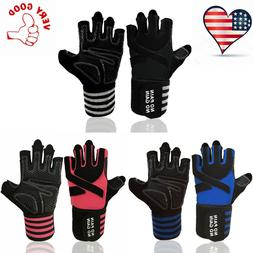Weight Lifting Gloves For Men Women With Wrist Wrap Support