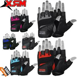 Weight Lifting Gloves Leather Fitness Gym Training Workout G