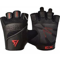RDX Weight Lifting Gloves Leather for Gym Workout - Breathab