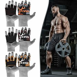 RDX Weight Lifting Grips Half Cut Gym Gloves Stretchy Sweat
