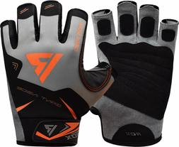 RDX Weight Lifting Gym Gloves Training Workout Fitness Wrist
