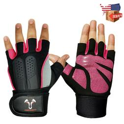 Weight-Lifting-Gym-Gloves-Workout-Wrist-Wrap-Sports-Exercise