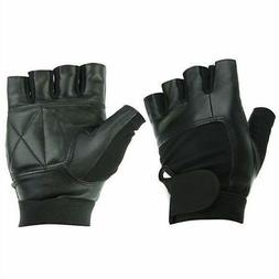 WEIGHT LIFTING PADDED LEATHER GLOVES TRAINING FITNESS BODY B