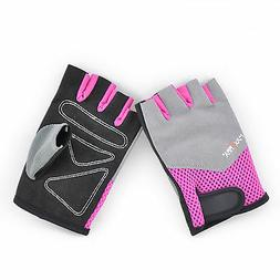 Weighted Lifting Gloves half finger size M, Pink for women,