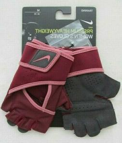 Nike Women's Gym Premium Fitness Gloves Medium Dark Beetroot