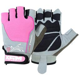 Women's Weight Lifting Gloves Leather Gym Training Fitness L