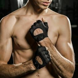 Workout Handle Bar Gloves Gym Pull Up Weight Lifting Sports