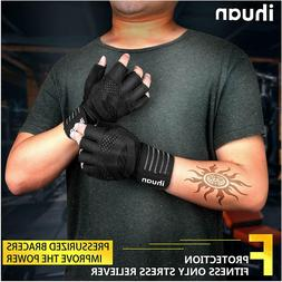 ihuan Professional Wrist Workout Gloves, Full Palm Protectio